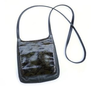 Fossil Green Snakeskin Python Crossbody Bag